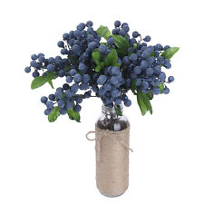 10PCS Artificial Flowers Blueberry Decoration Wedding Bouquets Silk Fake Flower