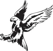 Attacking Hawk bird prey vinyl wall sticker decal decor for wall window or car