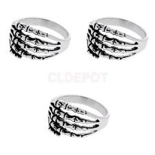 Punk Skull fingers Stainless Steel Men Cool ornament Personality Ring Jewely