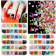 Nail Glitter Star Flower Sequins Boxs Tips Nail Art Manicure 3D Decoration DIY