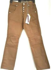 """Mens Crosshatch Chinos Trousers Jeans Tan Pockets 28"""" & 30"""" SALE WAS £30 NOW £20"""