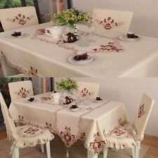 European Pastoral Rectangle Embroidery Tablecloth Home Dining Table Runner BTF