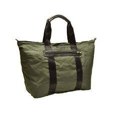 NWT $198 COACH Varick Nylon Packable WEEKENDER TOTE Gunmetal Olive F93314