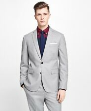 Men Fashion Wedding Suits Groom Guest Tuxedos Gray Work 2 Pieces Custom Made New