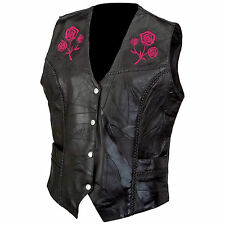 Ladies Vest Genuine Buffalo Leather by Diamond Plate™