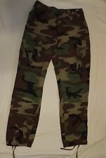 US Army Issue Woodland Camo BDU RipStop Combat Pants Trousers Hot Weather