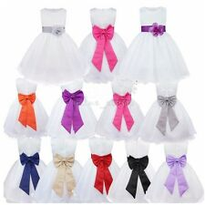 Girl Communion Party Prom Baby Flower Girls Dress Formal Pageant Wedding Dresses