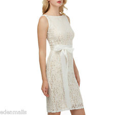 Kenancy Womens Sexy Lace Dress Sleeveless Cocktail Party Pencil Midi Dresses