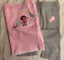 BNWT Pink & Grey Baby Girl Dora the Explorer Top & Trousers - Various Sizes