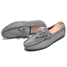 New String Decor Suede Driving Moccasins Soft Casual Flats Mens Walking Shoes