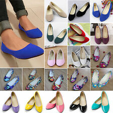Women Ballerina Ballet Dolly Pump Flats Loafers Casual Summer Slip On Boat Shoes