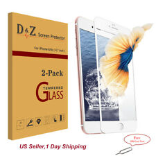 2x 3D Full Coverage HD Tempered Glass Film Screen Protector for iPhone 6s/7 Plus