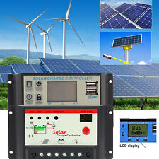 50A 20A 30A PWM LCD USB Solar Panel Battery Regulator Charge Controller 12V 24V