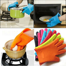 Kitchen Heat Resistant Silicone Glove Oven Pot Holder Baking BBQ Cooking Mitt US