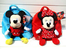 Cute Mickey and Minnie Backpack With Plush Doll For Girls and Boys School Bag