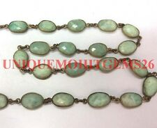 3 feet natural Amazonie 10-15mm uneven oval faceted link chain