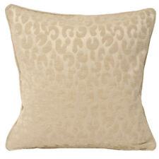 Leopard Print Chenille Cushion Cover - Modern Beige Cream Scatter Piped Cushion
