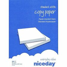 NICEDAY WHITE A4 80 gsm PRINTER COPIER OFFICE PAPER 2500 SHEETS/BOX 1 3 5 BOXES