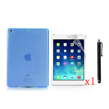 TPU Soft Jelly Case+1x LCD Film+Stylus Pen For 2017 Apple iPad 9.7 A1822/A1823