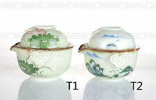 Kinds Tea Set - 150ml Porcelain Kungfu Tea Pot &1x 75ml Tea Cup w/opt Travel Bag