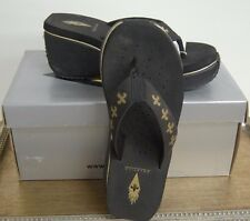 Gold & Black FDL Corkee Sandals by Volatile Sizes 5 &10 Brand New In Box w/tags