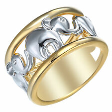 Elephant Ring Two Tone Plated