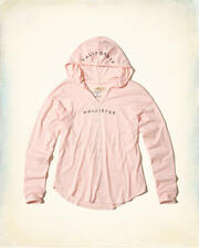 Abercrombie & Fitch – Hollister T-Shirt Womens Tee Hooded Logo XS Pink NWT