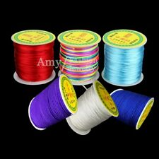1mm 1.5mm Chinese Knot Satin Nylon Braided Cord Macrame Beads Jewelry DIY Cords