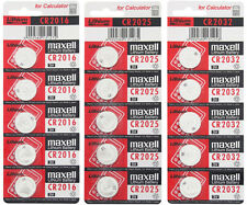 5 x CR Maxell Button cell batteries Lithium 2016 2025 2032 CR2016 CR2025 CR2032