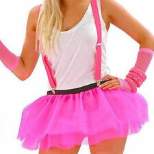 3 Layer Tutu Skirt Neon Set Legwarmers Fishnet Gloves 80'S Fancy Dress Hen Party