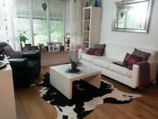 Black and White Cowhide Rug Cow Skin Leather Cow Hide Area Rug Hair on Hide