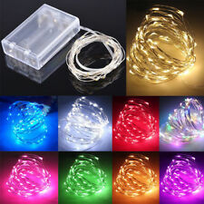 LED String Fairy Lights 20/30/40/50/100 Battery Operated Xmas Party Room Decor