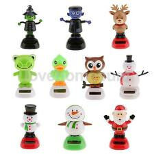10 Types Solar Powered Dancing Toy Flip Flap Car Window Home Decoration Ornament