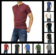 New Abercrombie & Fitch A&F Men Essential Henley T-Shirts Muscle Fit Button Down