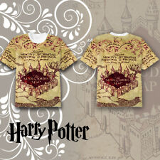 Harry Potter The Marauder's Map T-shirt Tee Tops Summer Short Cosplay Costume