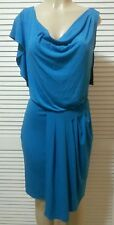 NEW! Vince Camuto Directoire Blue Jersey Knit Dress Flutter Sleeve 4