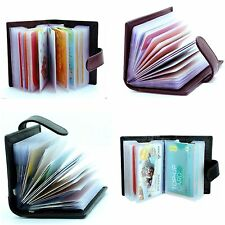 WHOLESALE JOBLOT LEATHER CREDIT CARD I.D HOLDER WITH 12PLASTIC SLEEVES 12PCS MIX