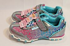 New Skechers Prima Ballerina Wild Spun Lil Twister silver/blue/pink casual shoes