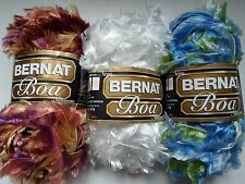 Bernat Feather Boa Yarn~5 color choices~great for fluffy scarves~50gr skeins