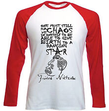 FRIEDRICH NIETZSCHE CHAOS QUOTE - NEW RED LONG SLEEVES COTTON TSHIRT