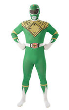 Rubie's Power Rangers, Green Ranger 2nd Skin Adults / Mens Fancy Dress Costume