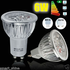 GU10 MR16 LED Spotlight 4/10/20x 6W Lamp Bulb Warm Cool White Light  High Power
