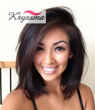 Short Bob Human Hair Lace Wig Straight Brazilian Remy Lace Front Human Hair Wigs