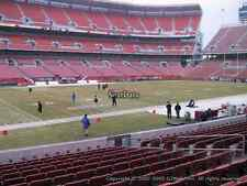 4 CLEVELAND BROWNS TICKETS BENGALS 10/1 SEC 105 only 4 rows from the field!