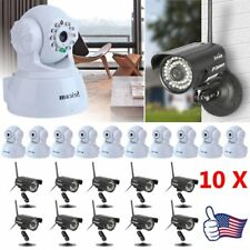 LOT 10 HD Network Wifi IP Security Camera Wireless Outdoor Night Vision Cam FH