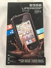 New LifeProof iPhone 4/4s Black Case - Water, Snow, Dirt And Shock Proof