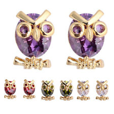 Women Fashion Owl Cubic Zirconia Stud Earrings Party Jewelry Charm Gift Dulcet