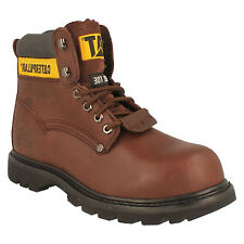 CATERPILLAR MENS LACE UP LEATHER STEEL TOE SAFETY WORK ANKLE BOOTS SHEFFIELD ST