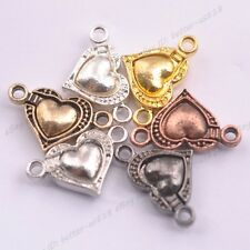 5/10/20Sets Heart Magnetic Silver Plated Clasps Hooks Jewelry Making Finding