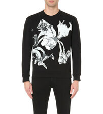 MCQ ALEXANDER MCQUEEN Abstract heart-print cotton-jersey sweatshirt SALE RP$380